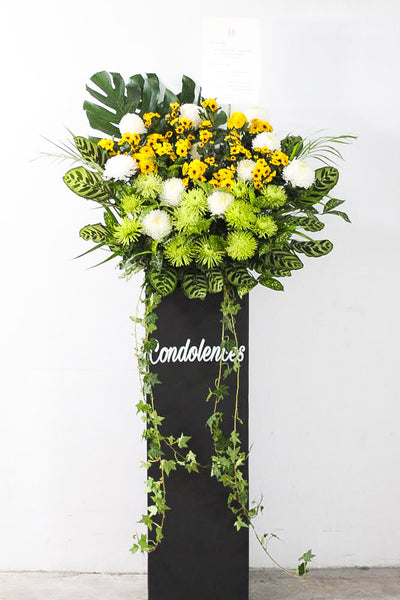 Goodbye (Sympathy stand flowers)