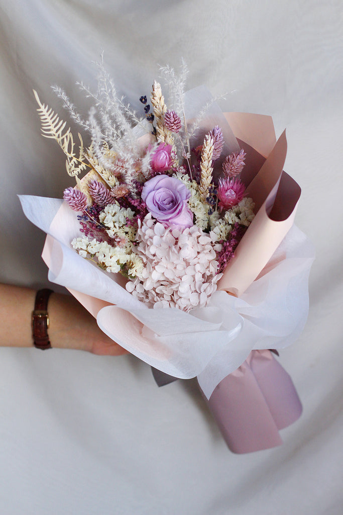 lilac dried bouquet flowers