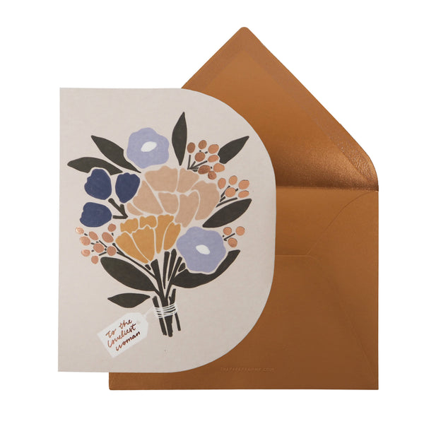 Greeting Card - To the Loveliest Woman by The Paper Bunny