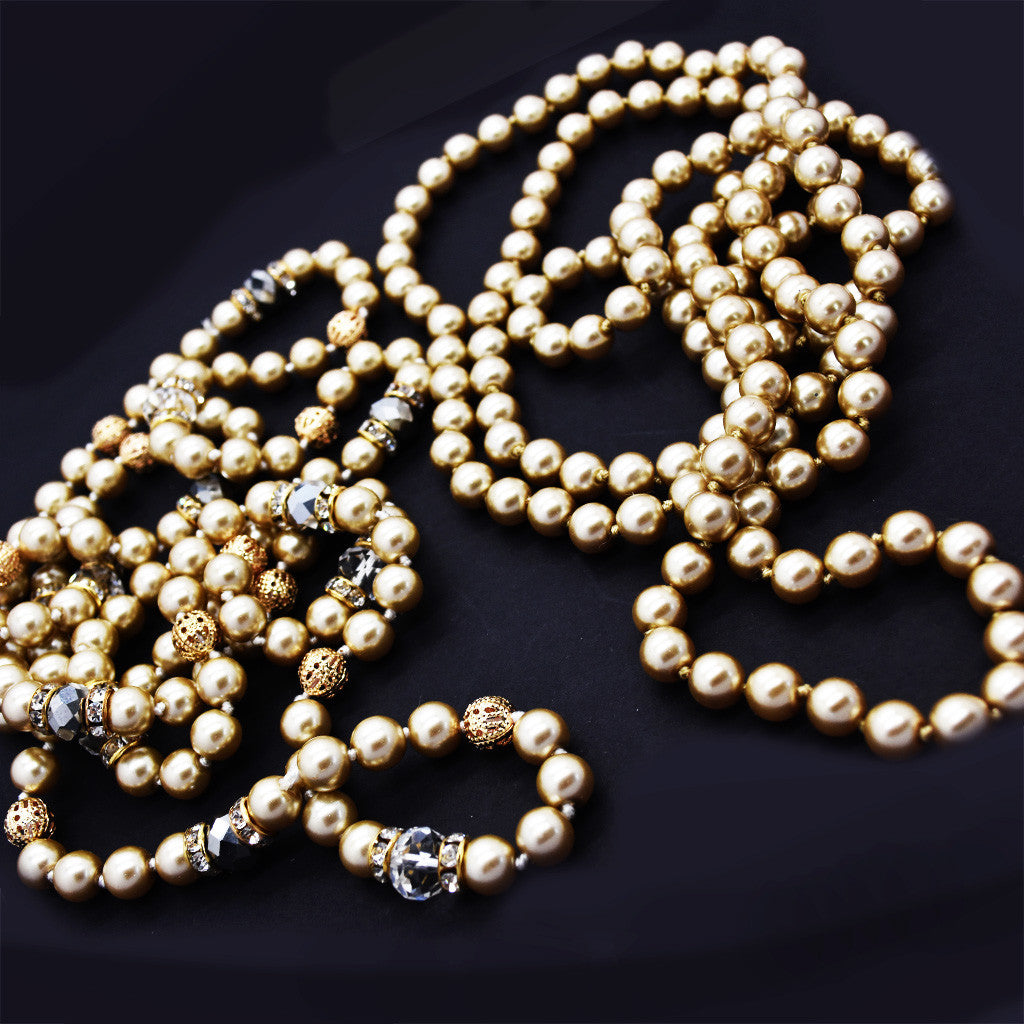 Long Champagne Pearl Strand