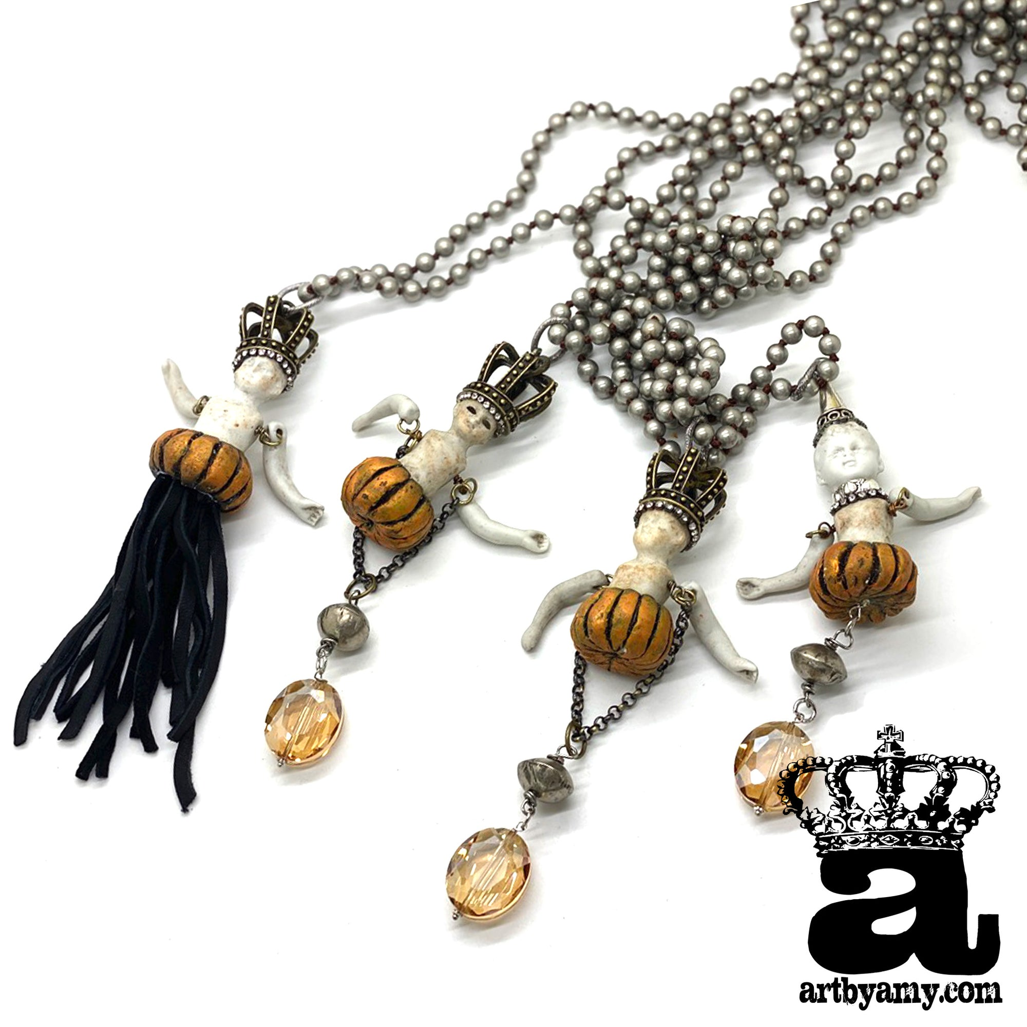 Pumpkin Costume Necklace