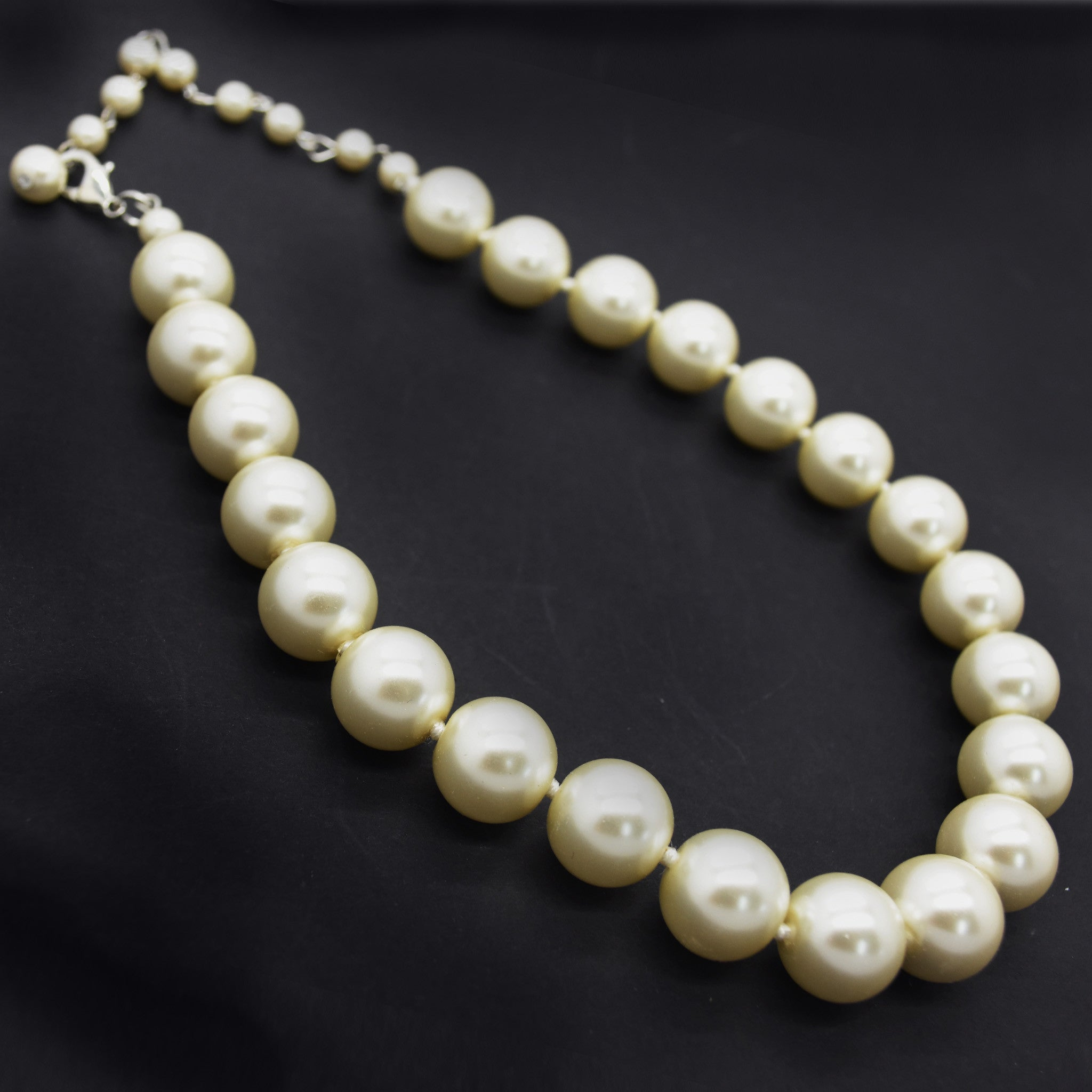 cream necklace white charms maestro black half product pearls gold
