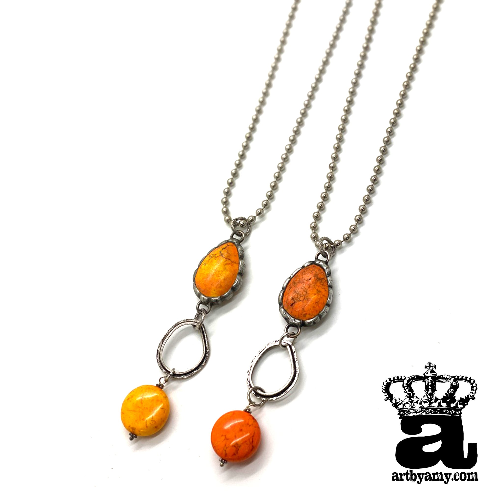 Pumpkin Stone Necklace