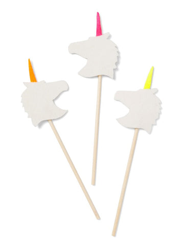 Neon Unicorn Toppers