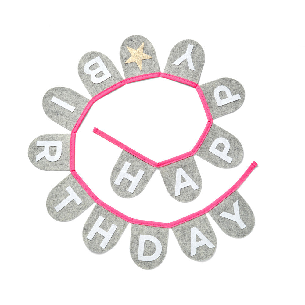 Happy Birthday Banner (Neon Pink)