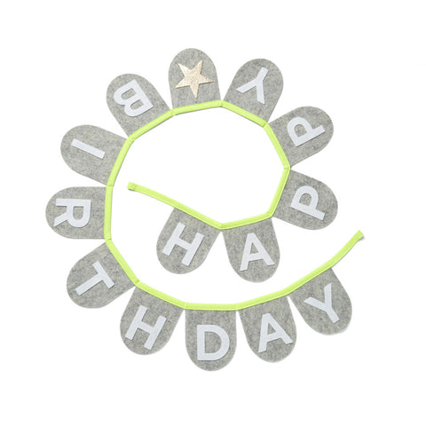 Happy Birthday Banner (Neon Yellow)
