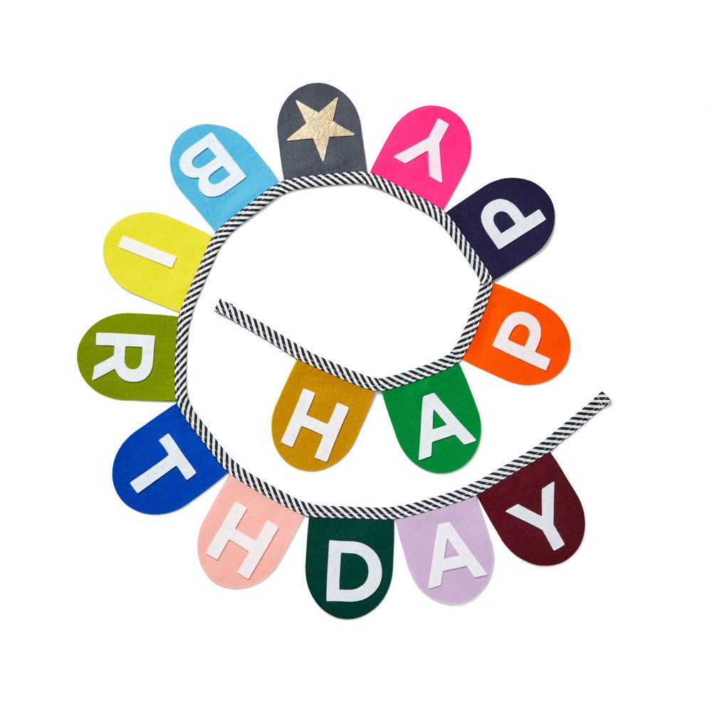Happy Birthday Banner Multi Color