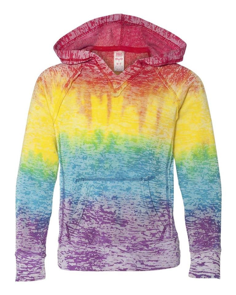Girls Youth Rainbow- Lightweight Sweatshirt