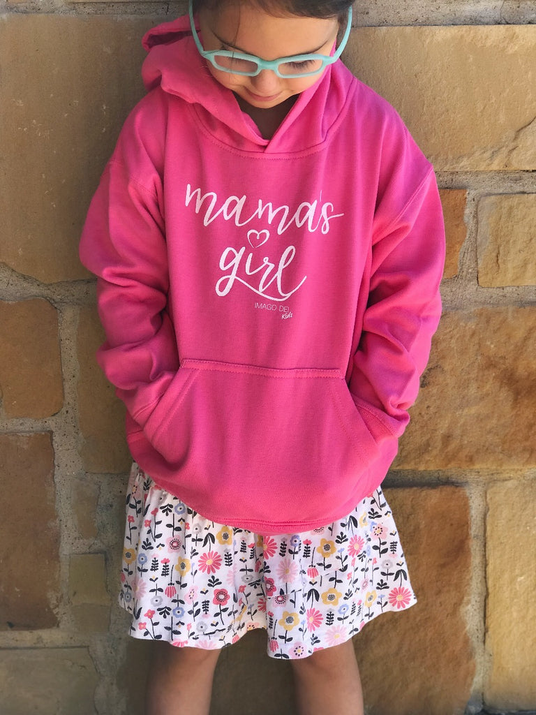 Mama's Girl-Raspberry Pink Fleece Hoodie