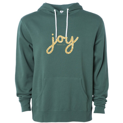Joy- Green Fleece Sweatshirt