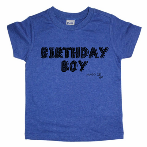 Birthday Boy- Cobalt Blue tee