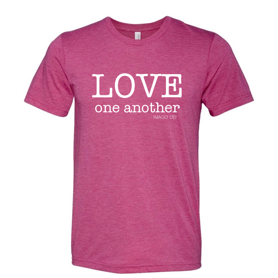 Love one Another - Adult Raspberry Tee