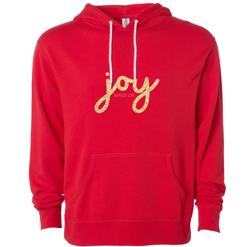 Joy-Red Fleece Sweatshirt