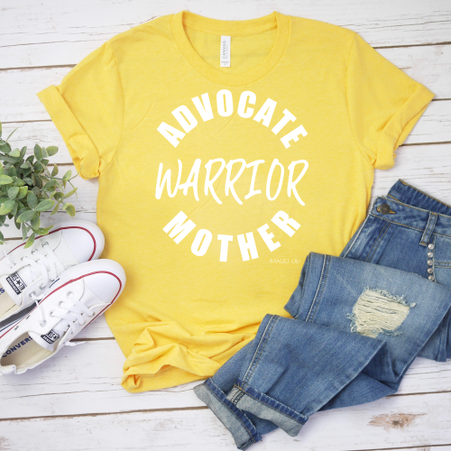 Advocate, Warrior, Mother - Adult Yellow Tee