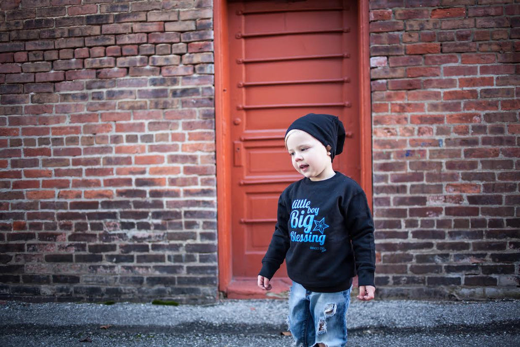 Little Boy Big Blessing- Black Sweatshirt