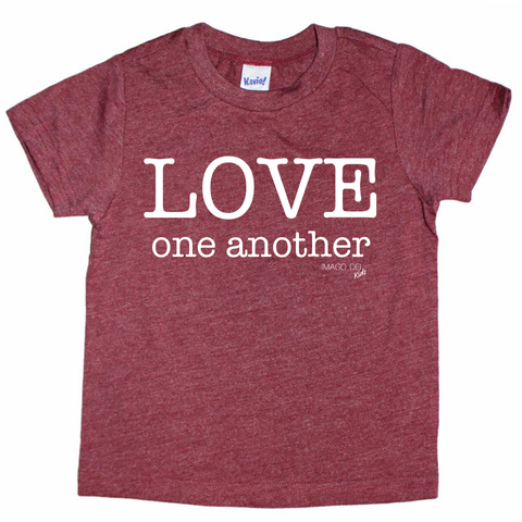Love One Another-Maroon Tee