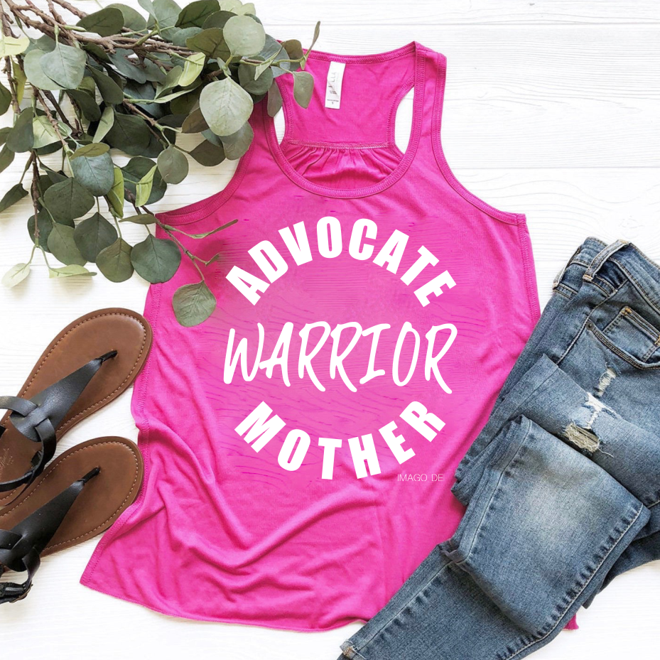 Advocate, Warrior, Mother - Berry Flowy Tank Top
