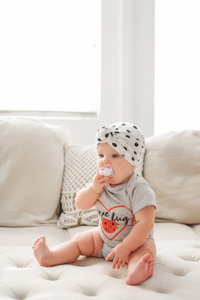 Love Bug-Grey Onesie