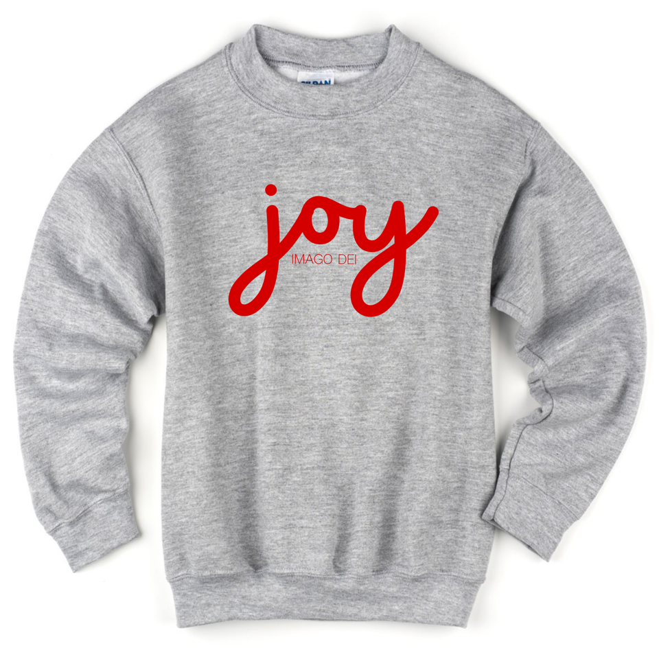 Joy - Kids Grey Sweatshirt