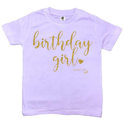 Birthday Girl- Lavender Tee
