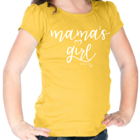 Mama's Girl- Puff sleeve yellow