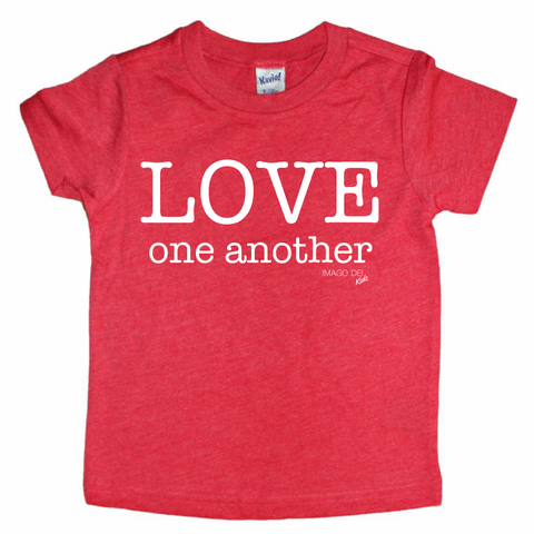 Love One Another- Red Tee