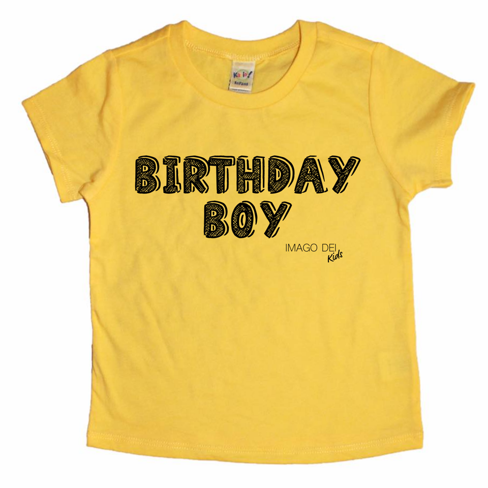 Birthday Boy- Yellow tee