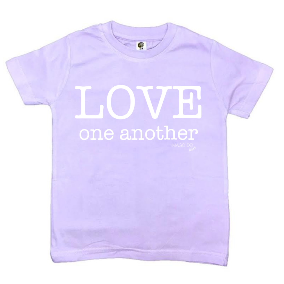 Love One Another- Lavender Tee