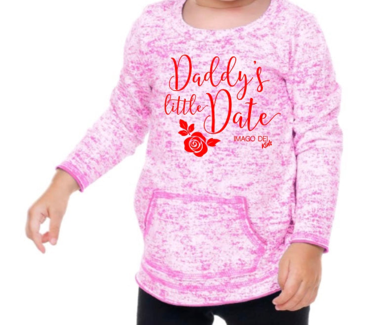 Daddy's Little Date- Static Jersey long sleeve