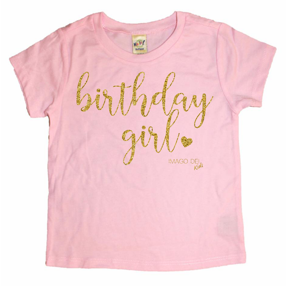 Birthday Girl- Pink Tee