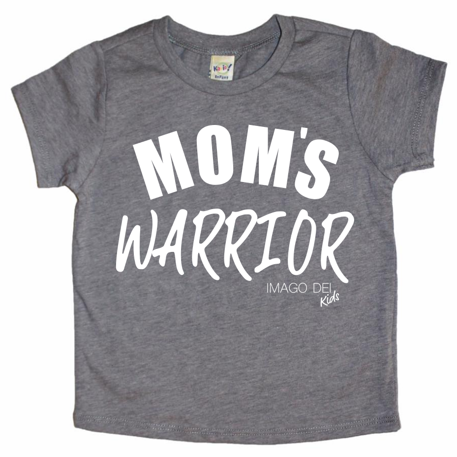Mom's Warrior- Dark Heather Grey Tee