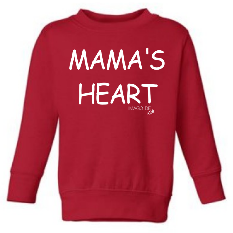 Mama's Heart - Red Sweatshirt