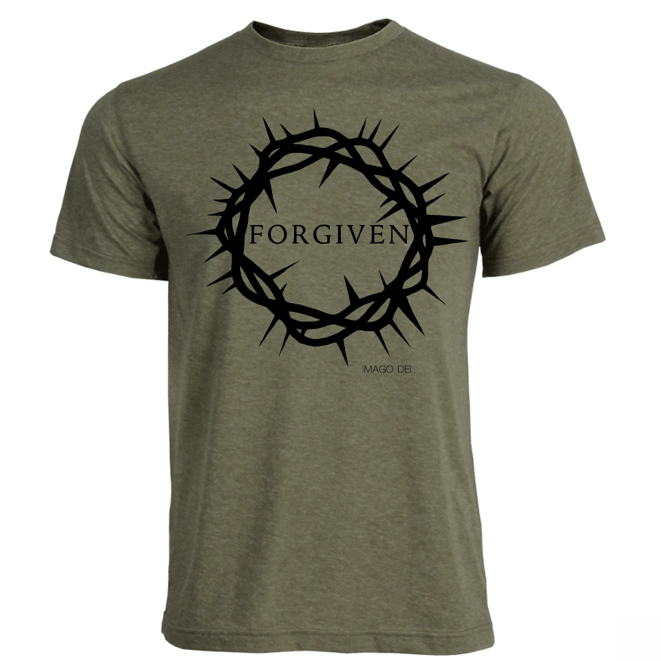 Forgiven - Adult Military Green Tee