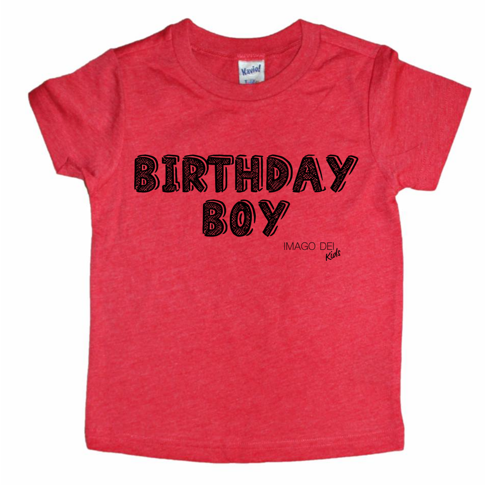 Birthday Boy- Red tee