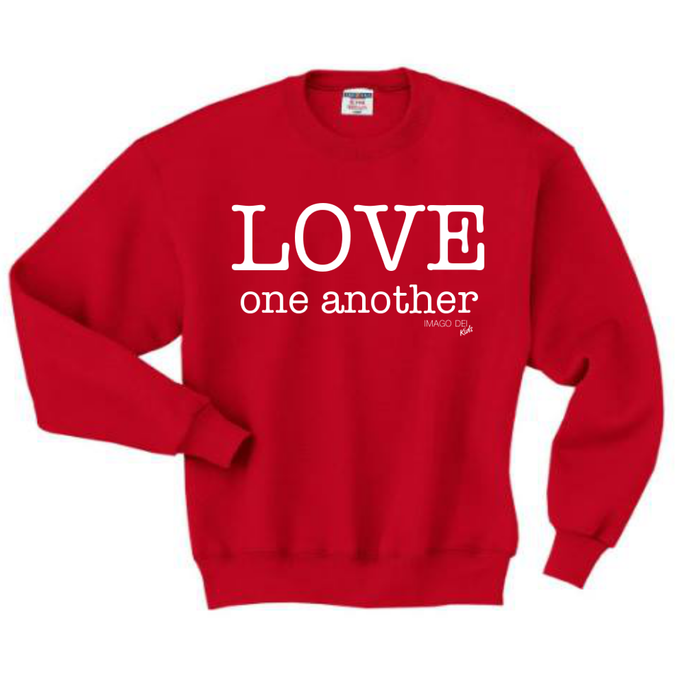 Love One Another - Red Sweatshirt
