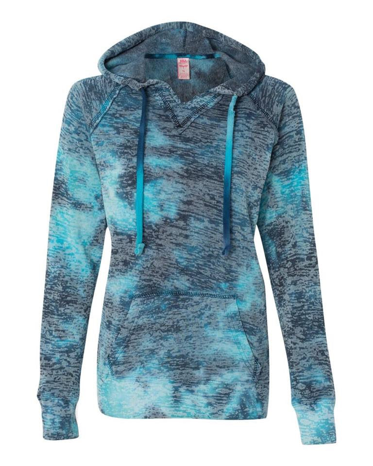 Blue Raspberry Burnout-Lightweight Sweatshirt