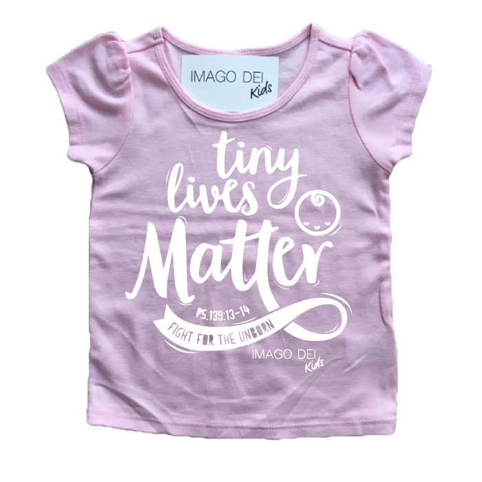 Tiny Lives Matter- Pink Puff Tee