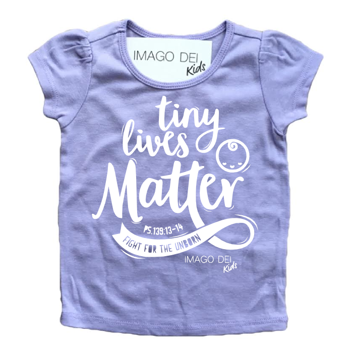 Tiny Lives Matter- Lavender Puff Tee