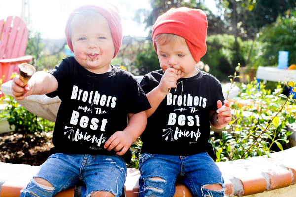 Brothers Make the Best Friends-Black Tee