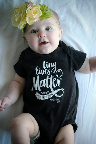 Tiny Lives Matter- Black Onesie