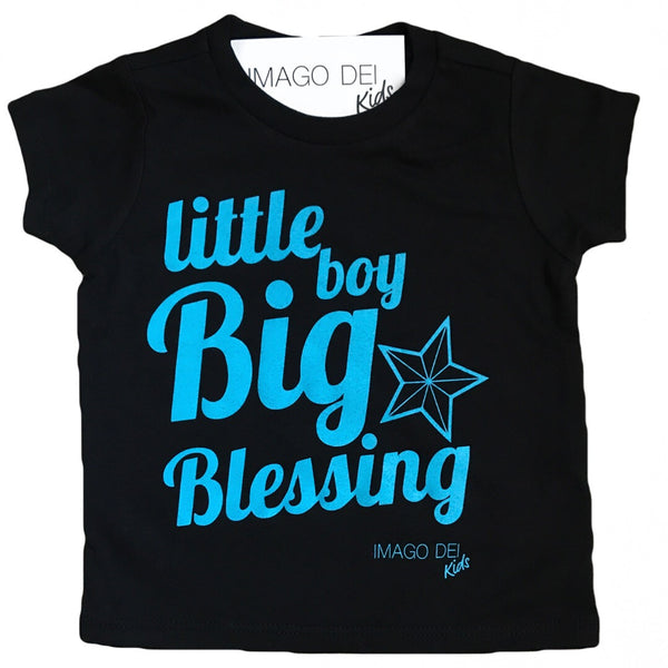 Little Boy, Big Blessing-Black Tee