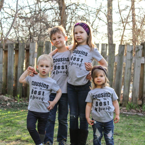 Cousins Make the Best Friends-Grey Tee