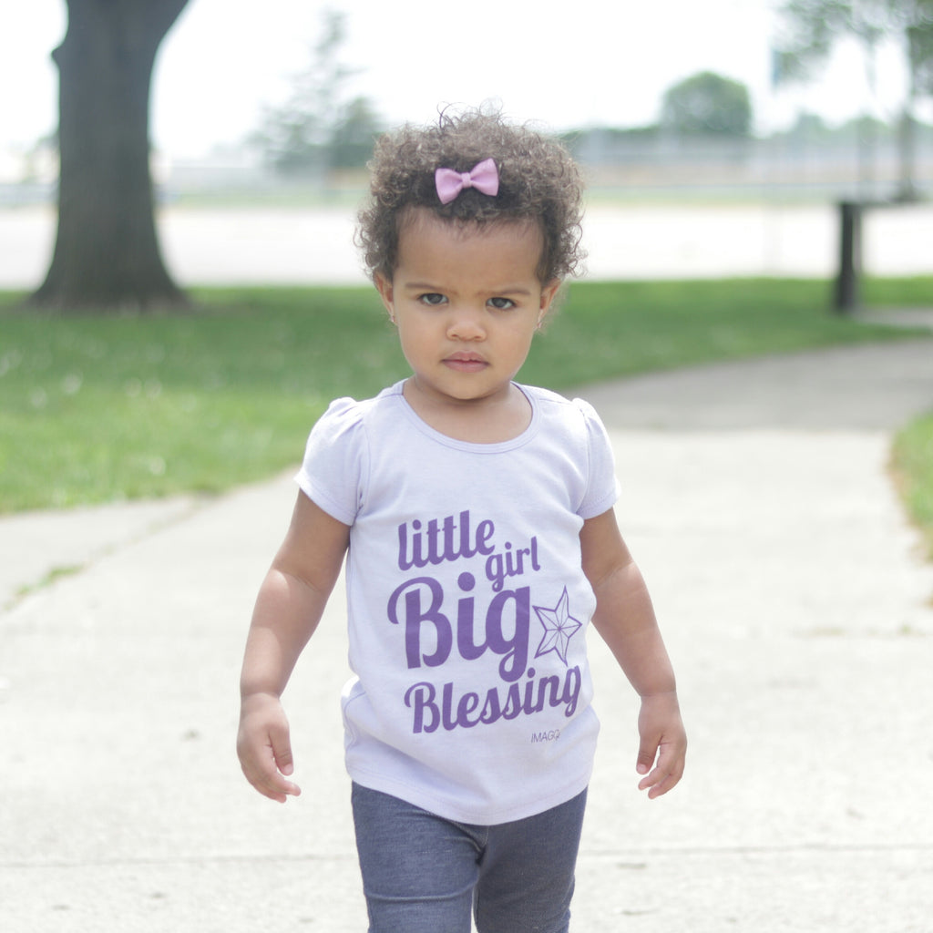 Little Girl Big Blessing-Lavender Puff Tee