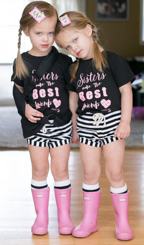 Sisters Make the Best Friends- Black Tee