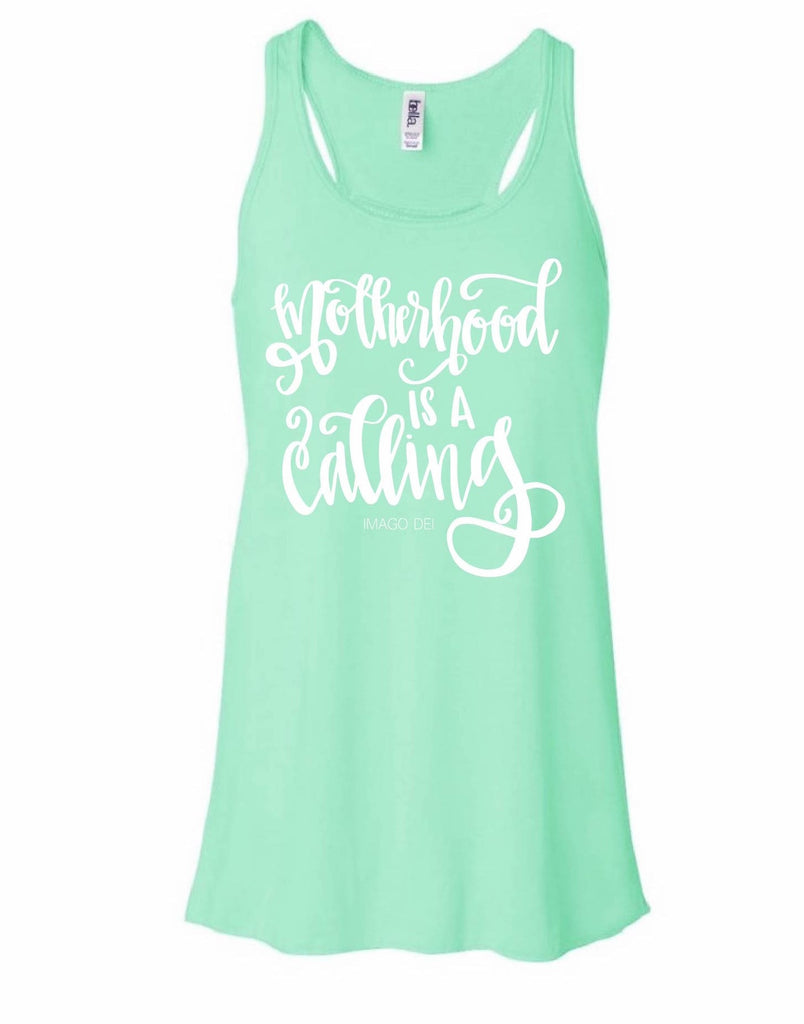 Motherhood is a calling- Mint Flowy Tank Top