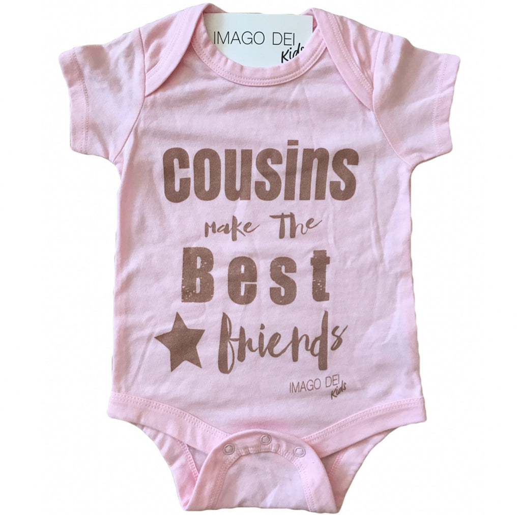 Cousins Make the Best Friends-Pink Onesie