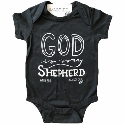 God Is My Shepherd Onesie- Charcoal Grey Onesie