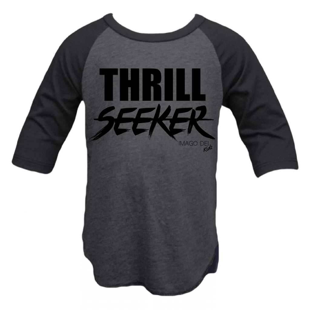 Thrill Seeker-Charcoal/Black Raglan
