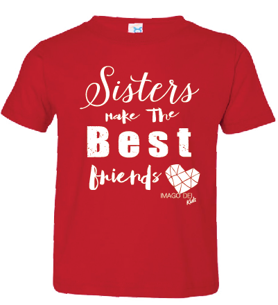 Sisters Make the Best Friends- Christmas Red Tee