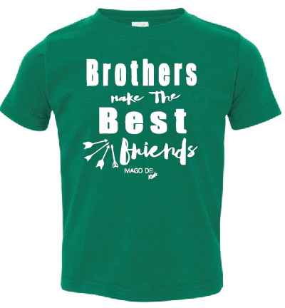 Brothers Make the Best Friends-Christmas Green Tee